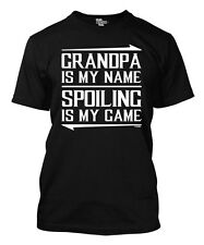 Grandpa Is My Name, Spoiling Is My Game - Father's Day Men's T-shirt