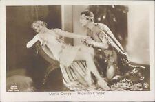 Actor Actress Maria Corda Ricardo Cortez 1920s RPPC Defina studio