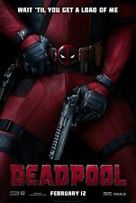 DEADPOOL Movie Poster 2-sided Double Sided 27X40 MARVEL IMAX LARGE FORMAT