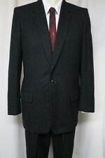 ALEXANDRE LONDON OXFORD ST Vintage 60s Bespoke Suit Charcoal 38 - 40R