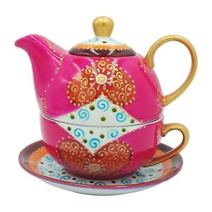 SeedPorcelain Hand Painted Teapot Tea for one Cup Sauce FDA Approved Tealogic