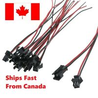 10pcs 5 pair 100mm Long JST SM 2 Pins Plug Male to Female Wire Connector. Canada