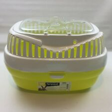 Ferplast Aladino Small Animal Pet Carrier Crate, Yellow, Size approx 36x26x23cm