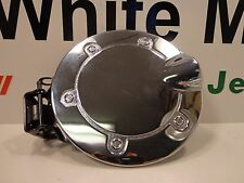09-18 Dodge Journey New Chromed Aluminum Fuel Filler Door Mopar Factory Oem
