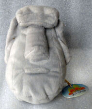 Easter Island Stone Head Moai gray plush 6 inches tall with tag
