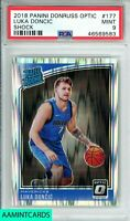 2018 PANINI DONRUSS OPTIC Luka Doncic #177 SHOCK!!! ROOKIE RC PSA 9