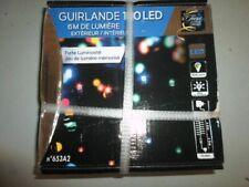 GUIRLANDE ELECTRIQUE 6 M 100 LED INTERIEUR EXTERIEUR MULTICOLORE NEUF