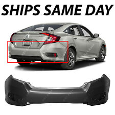 NEW Primered Rear Bumper Cover Replacement for 2016 2017 Honda Civic Sedan 16 17