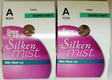 18a10ae004a 2 Leggs Silken Mist Silky Sheer Leg Shaper Panty Pantyhose Size A NUDE 95584