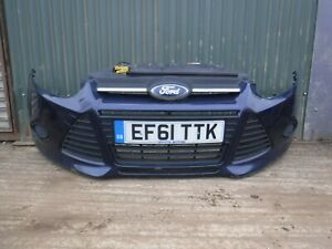 2011 MK3 FORD FOCUS EDGE TDCI 115 COMPLETE FRONT BUMPER IN BLUE