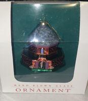 Colonial Williamsburg Powder Magazine Hand Blown Glass Christmas Ornament