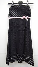 Black and Pink Strapless Spotty  Dress from The Vestry By Lipsy 6-8