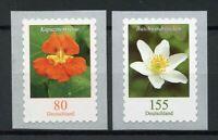 Germany Stamps 2019 MNH Flowers Definitives Nasturtium Wood Anemone 2v S/A Set
