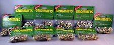 "400 PC 200 GROMMET SETS NICKLE-PLATED 3/8 "" HOLE USE WITH COGHLANS GROMMET KIT"