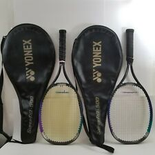 Lot of 2x Yonex SUPER RQ-500 Racquet Grip 4 3/4 & 4 7/8 with carry bags