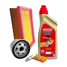 Kit tagliando Castrol Scooter 5W40 filtro olio aria Piaggio 852944 candele NGK