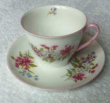 Shelley England china Stocks cup and saucer set~rare Stirling shape-No reserve