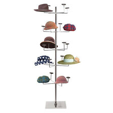 Hat Stand Retail Store Floor Display Rack 5 Levels 20 Caps Heavy Wt Rotating New