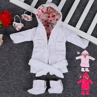 For 18 inch American Doll Clothes Vintage Doll Cloth Pajamas & Eye Mask made