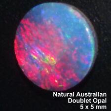 100% Genuine Australia Doublet Opal Multicolor, 0.37 carat, 5 x 5mm, Round.