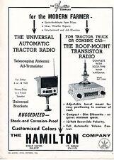 1966 Print Ad of The Hamilton Co Universal Tractor Radio & Transistor PUT 3108