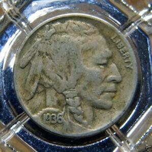 1936-P UNITED STATES INDIAN HEAD (BUFFALO) NICKEL...#8187