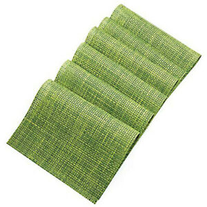 6x Green PVC Placemats Washable Heat Insulation Dining Table Place Coaster Mat A