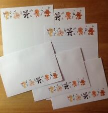 Colourful Musical Teddy & Cute Animals letter writing paper stationery set