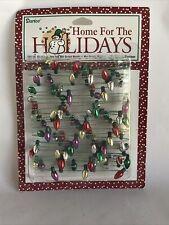 Darice Home For The Holidays 8' Christmas Mini Garland Metallic Bulb Shaped Nos
