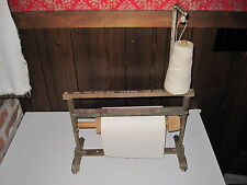 ANTIQUE GENERAL DRUG BUTCHER OR DEPARTMENT STORE FINE XMAS WRAPPING PAPER STAND