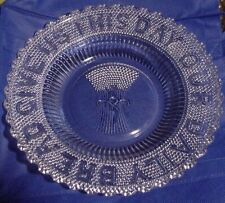 Hobbs Brockunier & Company Sheaf of Wheat EAPG Give Us Our Daily Bread Plate