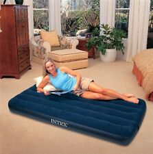 Genuine INTEX Large Single Inflatable Camping  Air Mattress Bed Downy Classic