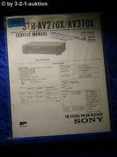 Sony Service Manual STR AV270X /AV370X FM/AM Receiver (#5221)