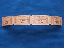Vintage Fairlane/Litchfield Theatres (Strip of 4) Movie Tickets/Cinema - SC