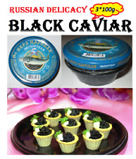 Black caviar 3 Jars*100g/10.5oz Russian Delicacy  export Exp. 11.05.2020