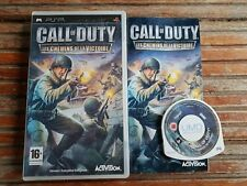PSP : call of duty les chemins de la victoire