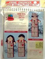 Kids Shoe Organizer Bag Craft Kit Ernie Train Engineer New Vintage 1975 E100