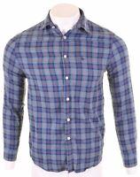 JACK WILLS Mens Shirt Small Multicoloured Check Cotton  CC19