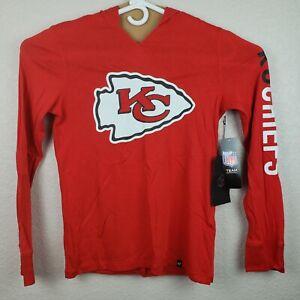 Kansas City Chiefs Womens Small 47 Brand Longsleeve Shirt NFL Red White Hood