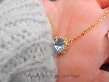 Layered Swarovski Pendant Dainty Necklace Crystal Art Deco Delicate Necklace