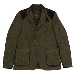 Barbour Beacon Commander Wool Tweed DEPT B Jacket Skyfall Bond 007 Large L 40