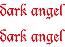 2 Aufkleber dark angel 30cm rot Auto Heck Tür Fenster Tattoo Deko Folie Gothic