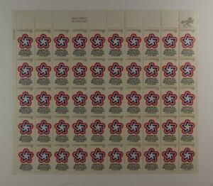 US SCOTT 1432 PANE OF 50 AMERICAN REVOLUTION STAMPS 8 CENT FACE MNH