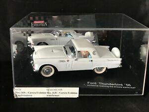 Carrera Evolution 1956 White Ford Thunderbird 1:32 Scale Model with Case