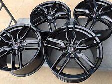 Black 19/20 C7 Z51 R Corvette Stingray Wheels 2014 2015 2016 2017 GM Center Caps