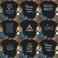 Harry Potter T-shirt Unisex Tee Glasses Print Tops Funny Wizard Shirt S-XXXL