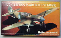 PRL) CURTISS P-40E KITTYHAWK MONTAGGIO MODELLINO MODEL 1-72 PLANE AVION HELLER