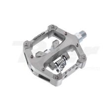 """35570 Pedali automatici WELLGO R120B filetto 9/16"""" x 20T in magnesio argento"""
