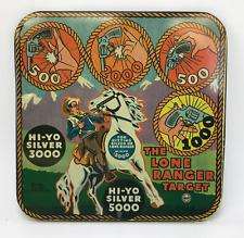 Vintage The Lone Ranger 1938 Marx Target Board Tin Litho 9.5 × 9.5 Free Shipping