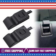 2 Pcs Black Door Lock Knobs Front/Rear Ebony For GMC Silverado/Sierra 07-13